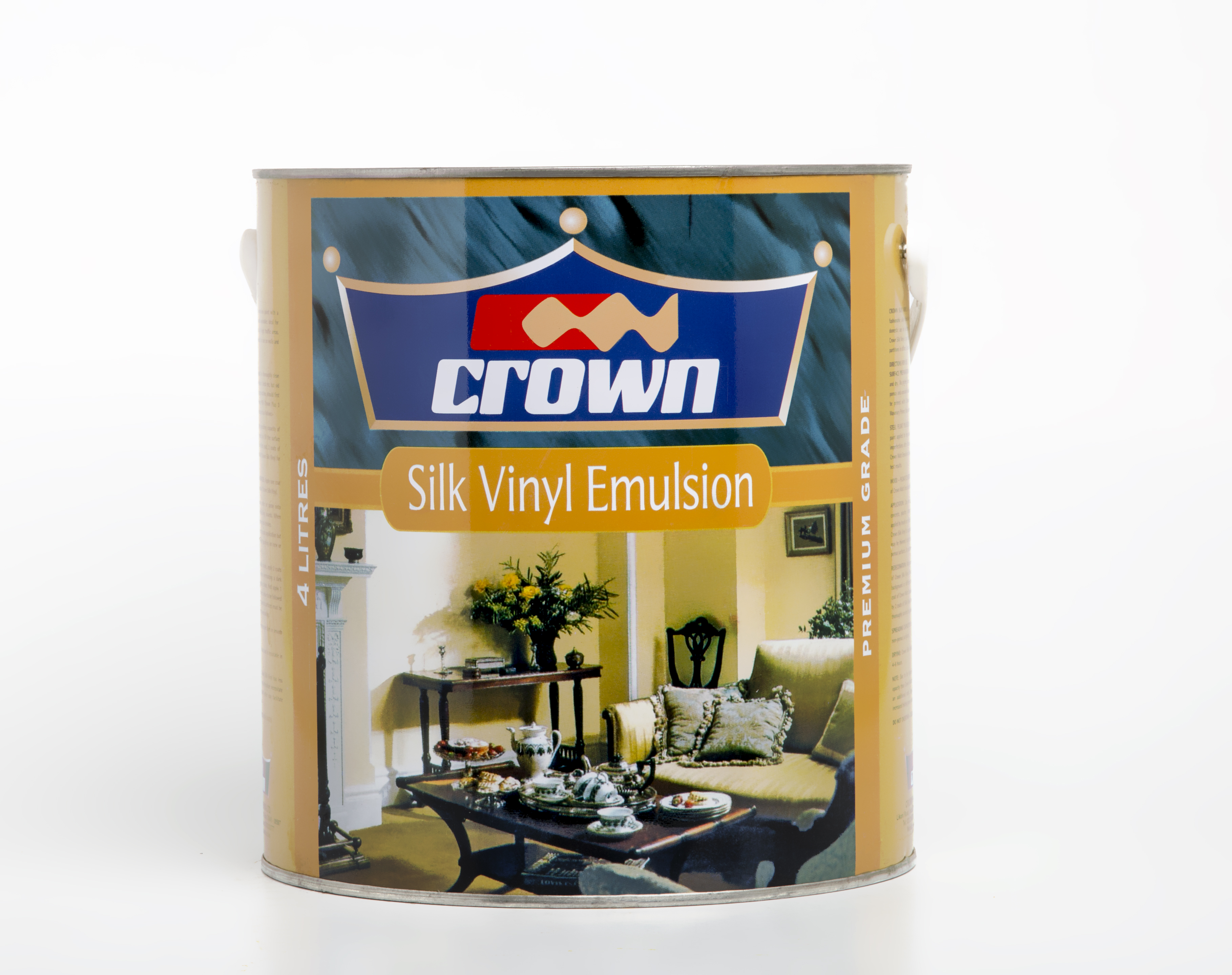 SILK PAINT - CROWN - WHITE - 4LTRS 36000 Image